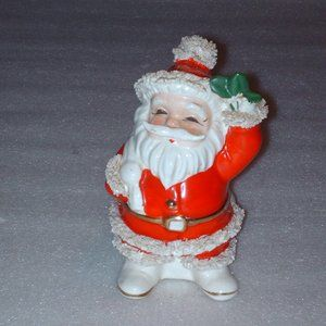 Vintage Santa Claus Christmas planter or vase